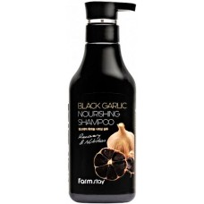 FarmStay Black Garlic Nourishing Shampoo 530 ml Sampon anti-cadere cu extract de usturoi negru