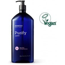 Aromatica Tea Tree Purifying Shampoo 400 ml Sampon vegan purificator pentru scalp gras