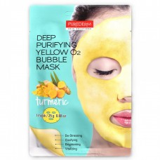Purederm Deep Purifying O2 Bubble Mask Turmeric